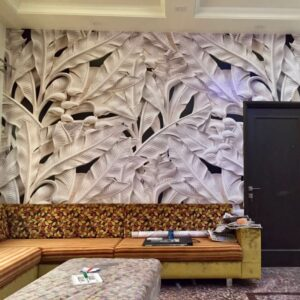 Customized Wallpaper for living room by WallPro