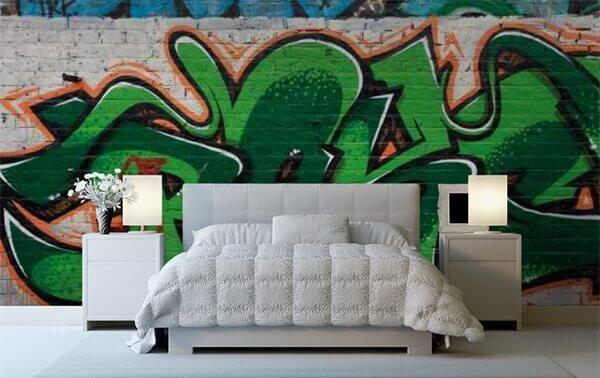 Graffiti Green by WallPro Customized wallpaper